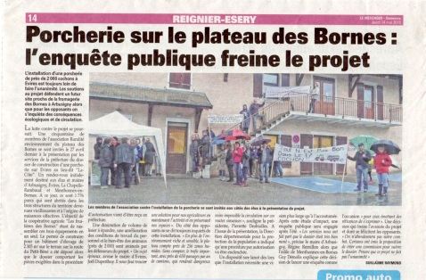 Porcherie Bornes Messager